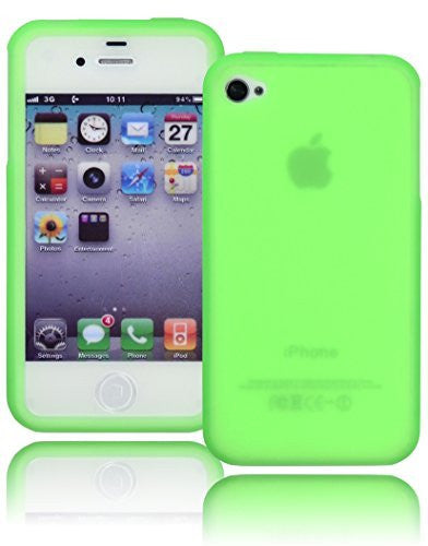 Neon Green Silicone Case Cover  Apple Iphone 4, 4s, 4g, 4th Generation