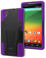 ZTE Zmax Phone Case,    Hybrid  Purple Silicone  Black - BastexShop