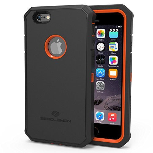 Zerolemon® Apple iPhone 6, 4.7 inch Protector Series  Orange  Black Hy - BastexShop