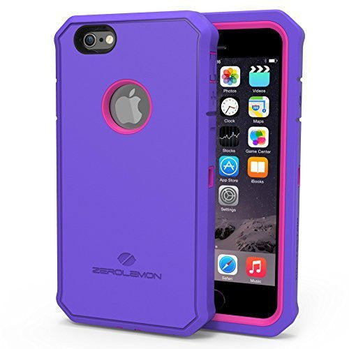 Zerolemon® Apple iPhone 6, 4.7 inch Protector Series  Purple  Pink Hyb - BastexShop