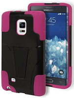 Samsung Galaxy Note Edge Hybrid  Pink Cover  Black Kickstand Case - BastexShop