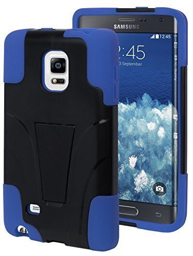 Samsung Galaxy Note Edge Blue Silicone Cover with Black  Kickstand Case - BastexShop