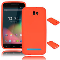 Silicone Case  BLU Studio 5.5 - Orange  Skin - BastexShop