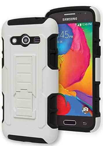 Galaxy Avant G386, Hybrid  Black Cover with  White Kickstand Case - BastexShop