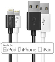 [Apple MFi Certified] [Set of 2] Fenix Lightning to USB Data and Charge Cable