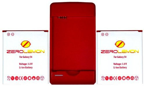 [180 days warranty] ZeroLemon 2x Samsung Galaxy S4 3000mAh Battery + World's - BastexShop