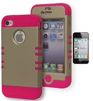 KoolKase Hybrid Case  Apple Iphone 4, 4s, 4g, 4gs - Pink - BastexShop