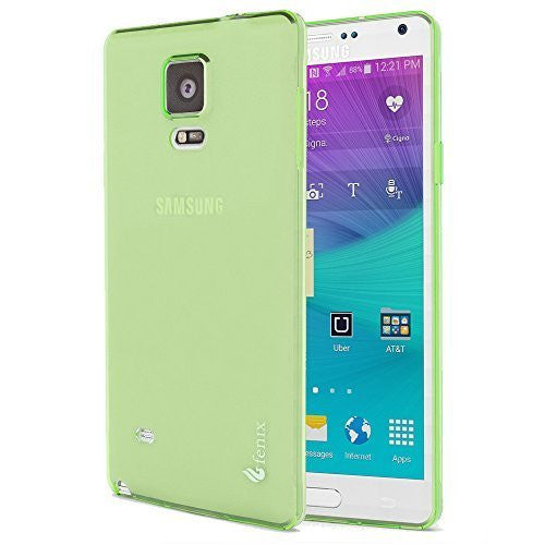 Samsung Galaxy Note 4, Clear Light Green Slip-on Protective TPU Case Cover - BastexShop