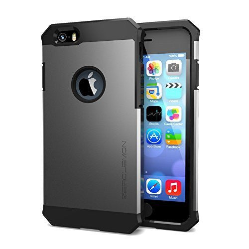 ZeroLemon® Apple iPhone 6 4.7 inch Case - Razor Armor Carbon Black  Black Hy - BastexShop