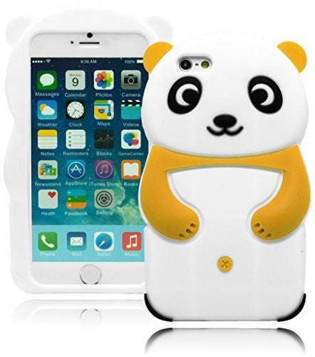 "Silicone Black and Yellow Happy Panda Case  iPhone 6, 4.7"" - BastexShop"