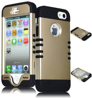 Hybrid Case iPhone 5, 5S, 5th Generation - Black Silicone - BastexShop