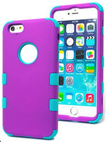 "iPhone 6, 5.5"" Plus Hybrid Protective Tuff  Teal Cover  Purple Case - BastexShop"