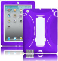 Apple iPad - Purple Silicone & White  Shell Case - BastexShop