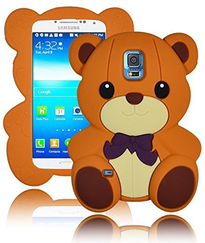 Character Silicone Case  Samsung Galaxy S5 i9600 - Light Brown T - BastexShop
