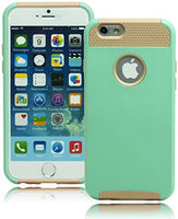 "Hybrid Gold  Silicone with Teal  Case  iPhone 6, 4.7"" - BastexShop"