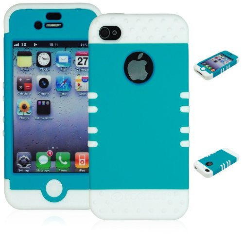 Hybrid Case  iPhone 4, 4s, 4th Generation - White Silico - BastexShop