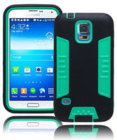Hybrid Mint Green Shell with Black Rubberized Case  Samsung Galaxy S5 I9600 - BastexShop