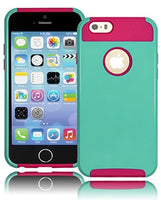 "Hybrid MintTeal  Case Cover + Hot Pink  Silicone  iPhone 6, 4.7"" - BastexShop"