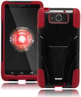 Hybrid Protective Red and Black Kickstand Case Cover  Motorola Droid Ultra - BastexShop