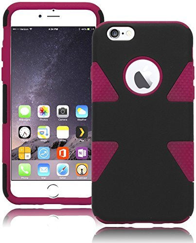 "Dynamic Black Case + Hot Pink  Silicone Cover  iPhone 6, 4.7"" - BastexShop"