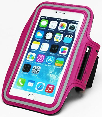 "Runners Dual Armband Case Hot Pink Design with Key Holder  iPhone 6 Plus 5.5"" - BastexShop"