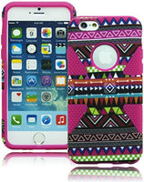 "iPhone 6, 4.7""   Hybrid Hot Pink with Aztec Tribal Design  Case - BastexShop"