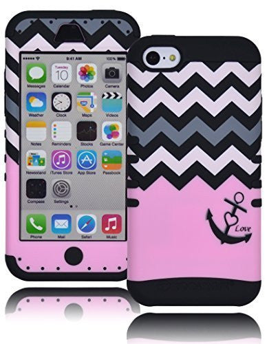Hybrid Case  Apple iPhone 5C, 5th Generation -  Blac - BastexShop