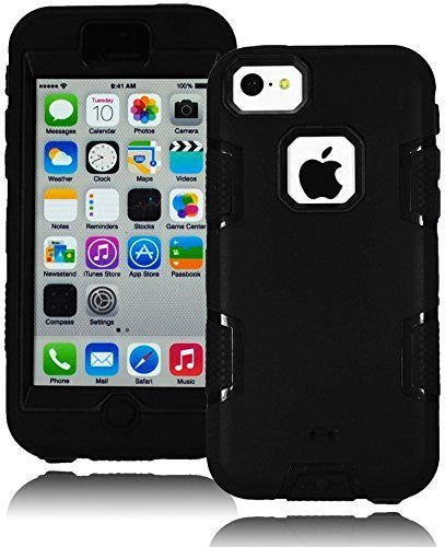 Hybrid Black Tron Design Case Cover + Black Silicone  iPhone 5C - BastexShop