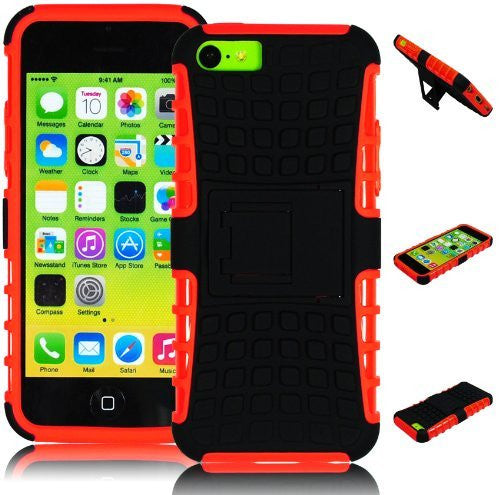 Hybrid Case  iPhone 5C, 5th Generation - Orange S - BastexShop