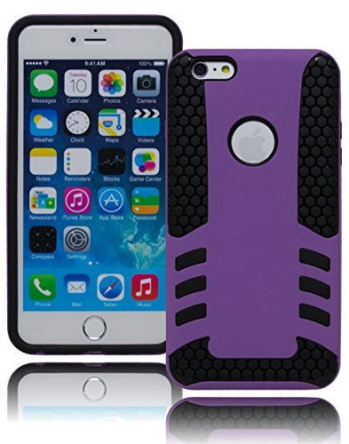 "Black Honeycomb Silicone Cover with Purple Case  iPhone 6, 5.5"" - BastexShop"