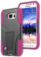 Galaxy S6 Active Phone Case,    Hybrid  Hot Pink Silicone - BastexShop