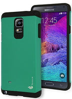 Samsung Galaxy Note 4,   Hybrid Tough Armor TealBlack Case Cover - BastexShop