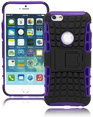 "Purple  Cover with Black  KIck Stand Design  Apple iPhone 6, 4.7"" - BastexShop"