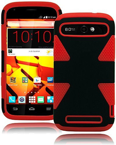 Hybrid Protective Red and Black Case Cover  ZTE Warp Sync N9515 - BastexShop