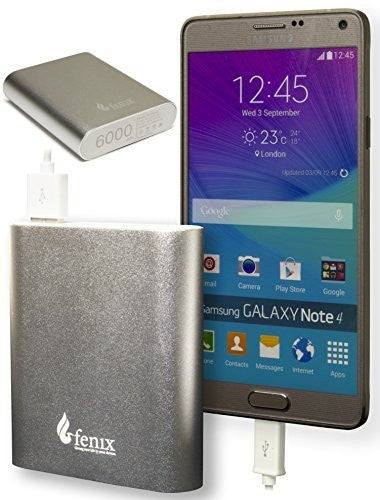 6000mAh USB External Power Bank (Silver) - BastexShop