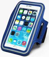 "Runners Dual Armband Case Blue Design with Key Holder  iPhone 6 Plus, 5.5"" - BastexShop"