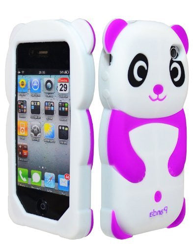 Wireless   Silicone Panda Bear Case  Apple iPhone 4, 4s - Pu