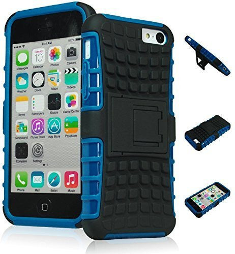 Hybrid     Kickstand Case +Blue Silicone Cover  iPhone 5C - BastexShop