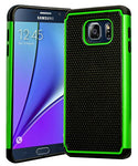 Galaxy Note 5 Case, Hybrid  Black Cover with Green Shock Armor Design Cas - BastexShop