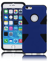 "Hybrid Protective Black and Blue Case Cover  iPhone 6 Plus, 5.5"" - BastexShop"