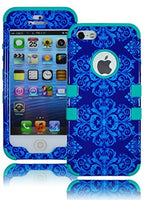 Hybrid Case  Apple iPhone 5, 5S, 5G -  Teal Silicone - BastexShop