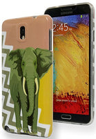 Samsung Galaxy Note 3 Antique Coral Gold Chevron with Elephant TPU Case - BastexShop