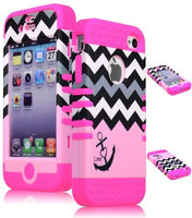 Hybrid Case  iPhone 4, 4s, 4th Generation - Pink Silicon - BastexShop