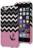 "Hybrid Pink Love Anchor Chevron Snap Together Case Cover  iPhone 6 (4.7"") - BastexShop"