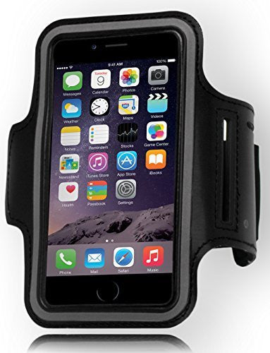 "Runners Sporty Black Armband with Key Holder  iPhone 6, 4.7"" - BastexShop"