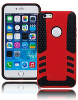 "Black Honeycomb Silicone Cover with Red Case  iPhone 6, 5.5"" - BastexShop"
