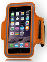 Runners Sporty Orange Armband with Key Holder  iPhone 6, 4.7""
