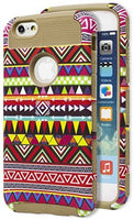 "iPhone 6 4.7"" Hybrid   Durable Gold  Cover Aztec  Case - BastexShop"