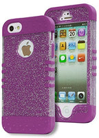 iPhone 5, 5S, 5G, Neon Purple with Glitter  Shell Design Protective Case - BastexShop