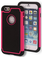 "Hybrid  Black with Pink Trim Protective Case Cover  iPhone 6, 4.7"" . - BastexShop"